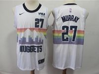 Mens 2018-19 Nba Denver Nuggets #27 Jamal Murray White City Edition Swingman Jersey