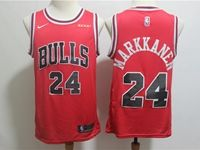 Mens Nba Chicago Bulls #24 Lauri Markkanen Bulls Red Nike Swingman Jersey