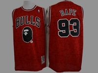 Mens Nba Chicago Bulls Bathing Ape #93 Bape Red Printing Mitchell&ness Jersey
