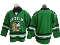 Mens Nhl North Dakota Fighting Sioux Bank Green Hockey Jersey