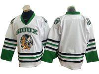 Mens Nhl North Dakota Fighting Sioux Bank White Hockey Jersey