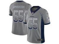 Mens Dallas Cowboys #55 Leighton Vander Esch Gray Drift Fashion Vapor Untouchable Limited Jersey