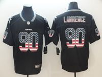 Mens Dallas Cowboys #90 Demarcus Lawrence Usa Flag Fashion Black Vapor Untouchable Limited Jersey