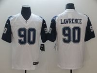 Mens Dallas Cowboys #90 Demarcus Lawrence White Color Rush Vapor Untouchable Limited Jersey