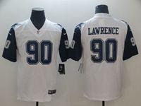 Mens Dallas Cowboys #90 Demarcus Lawrence White Color Rush Vapor Untouchable Limited Jersey