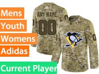 Mens Women Youth Adidas Pittsburgh Penguins Current Player Camo Jersey