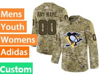 Mens Women Youth Adidas Nhl Pittsburgh Penguins Custom Made Camo Jersey