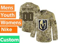 Mens Women Youth Adidas Vegas Golden Knights Custom Made Camo Jersey