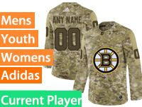 Mens Women Youth Adidas Nhl Boston Bruins Current Player Camo Jersey