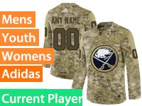 Mens Women Youth Adidas Buffalo Sabres Current Player Camo Jersey