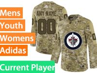 Mens Women Youth Adidas Winnipeg Jets Current Player Camo Jersey