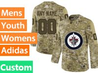 Mens Women Youth Adidas Winnipeg Jets Custom Made Camo Jersey