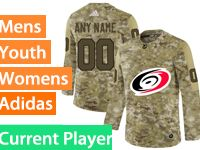 Mens Women Youth Adidas Nhl Carolina Hurricanes Current Player Camo Jersey