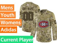 Mens Women Youth Adidas Montreal Canadiens Current Player Camo Jersey