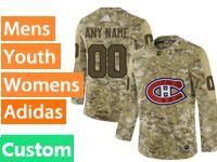 Mens Women Youth Adidas Nhl Montreal Canadiens Custom Made Camo Jersey