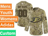 Mens Women Youth Adidas Anaheim Ducks Custom Made Camo Jersey