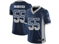 Mens Dallas Cowboys #55 Leighton Vander Esch Blue Drift Fashion Vapor Untouchable Limited Jersey