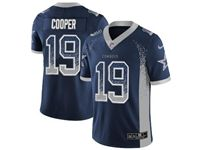 Mens Nfl Dallas Cowboys #19 Amari Cooper Blue Drift Fashion Vapor Untouchable Limited Jersey