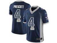 Mens Nfl Dallas Cowboys #4 Dak Prescott Blue Drift Fashion Vapor Untouchable Limited Jersey