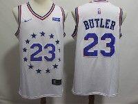 Mens 2018-19 Nba Philadelphia 76ers #23 Jimmy Butler White Earned Edition Nike Swingman Jersey