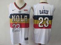 Mens 2018-19 Nba New Orleans Pelicans #23 Anthony Davis White Earned Edition Swingman Nike Jerseys