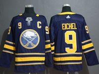 Mens Nhl Buffalo Sabres #9 Jack Eichel Dark Blue Adidas Jersey
