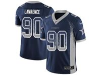 Mens Nfl Dallas Cowboys #90 Demarcus Lawrence Blue Drift Fashion Vapor Untouchable Limited Jersey