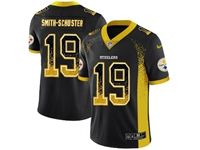 Mens Nfl Pittsburgh Steelers #19 Juju Smith-schuster Black Drift Fashion Vapor Untouchable Limited Jersey