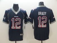 Mens Nfl New England Patriots #12 Tom Brady Blue Drift Fashion Vapor Untouchable Limited Jersey