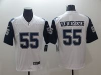 Mens Dallas Cowboys #55 Leighton Vander Esch White Color Rush Vapor Untouchable Limited Jersey