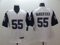 Mens Dallas Cowboys #55 Leighton Vander Esch White Color Rush Vapor Untouchable Limited Jersey