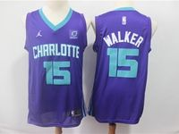 Mens Nba Charlotte Hornets #15 Kemba Walker Charlotte Purple Jordon Swingman Jersey