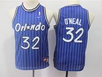 Youth Nba Orlando Magic #32 O`neal Blue Stripe Hardwood Classics Jersey