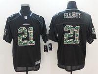 Mens Nfl Dallas Cowboys #21 Ezekiel Elliott Black Camo Classic Elite Jersey