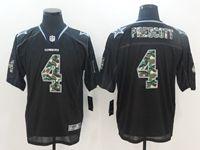 Mens Nfl Dallas Cowboys #4 Dak Prescott Black Camo Classic Elite Jersey