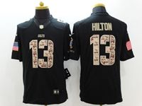 Mens Nfl Indianapolis Colts #13 T.y. Hilton Black Salute To Service Camo Number Limited Jersey
