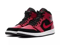 Men Nike Air Jordan 1 Mid Aj1 Basketball Shoes Colour Red