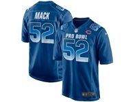 Mens Chicago Bears #52 Khalil Mack Blue 2019 Pro Bowl Nfc Nike Royal Game Jersey
