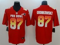 Mens New England Patriots #87 Rob Gronkowski Red 2019 Pro Bowl Afc Nike Royal Game Jersey