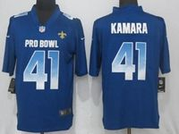 Mens New Orleans Saints #41 Alvin Kamara Blue Nike Royal Vapor Untouchable Limited Jersey