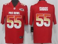 Mens Baltimore Ravens #55 Terrell Suggs Red 2019 Pro Bowl Nike Royal Vapor Untouchable Limited Jersey