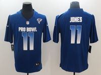 Mens Atlanta Falcons #11 Julio Jones Blue 2019 Pro Bowl Nfc Nike Royal Game Jersey