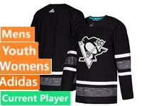 Mens Women Youth Nhl Adidas Pittsburgh Penguins Current Player Black 2019 All Star Jersey