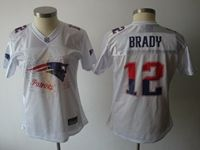 Women New England Patriots #12 Tom Brady White Fashion Elite Jersey