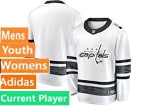 Mens Women Youth Adidas Washington Capitals Current Player White 2019 All Star Jersey