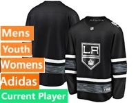 Mens Womens Youth Adidas Los Angeles Kings Black Current Player 2019 All Star Jersey
