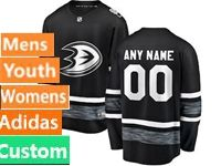 Mens Women Youth Adidas Anaheim Ducks Black Custom Made 2019 All Star Jersey