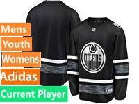 Mens Women Youth Adidas Edmonton Oilers Black Current Player 2019 All Star Jersey