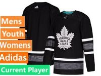 Mens Women Youth Adidas Toronto Maple Leafs Black Current Player 2019 All Star Jersey