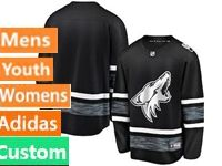Mens Women Youth Adidas Arizona Coyotes Black Custom Made 2019 All Star Jersey